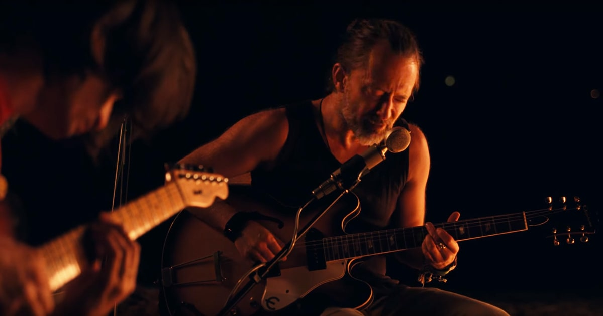 Watch Thom Yorke's Impromptu Garden Performance news