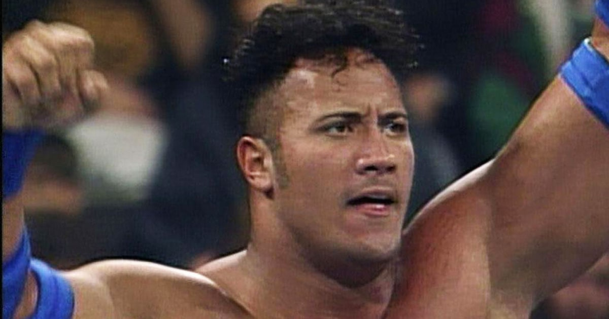 Images Of The Rock Wwe: The Rock Watches His First WWE Match From 1996