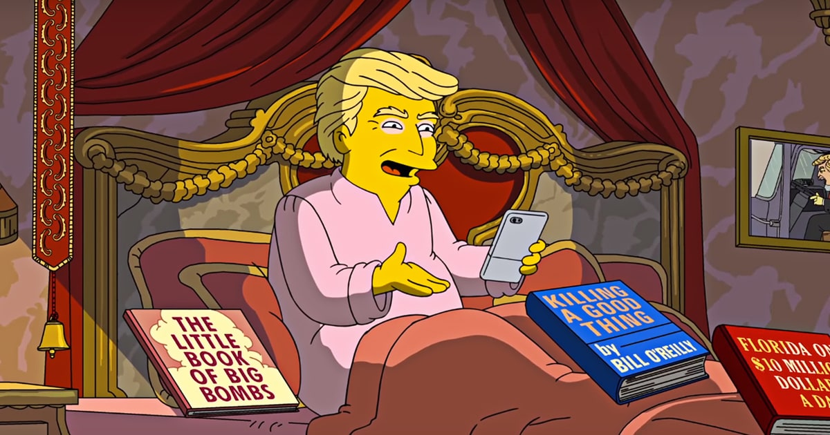 watch the simpsons skewer donald trumps first 100 days