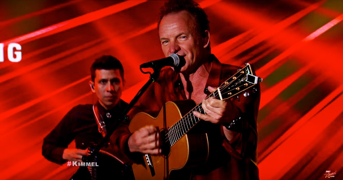 Hear Sting Perform Police Song 'Next to You' on 'Jimmy Kimmel Live!' news