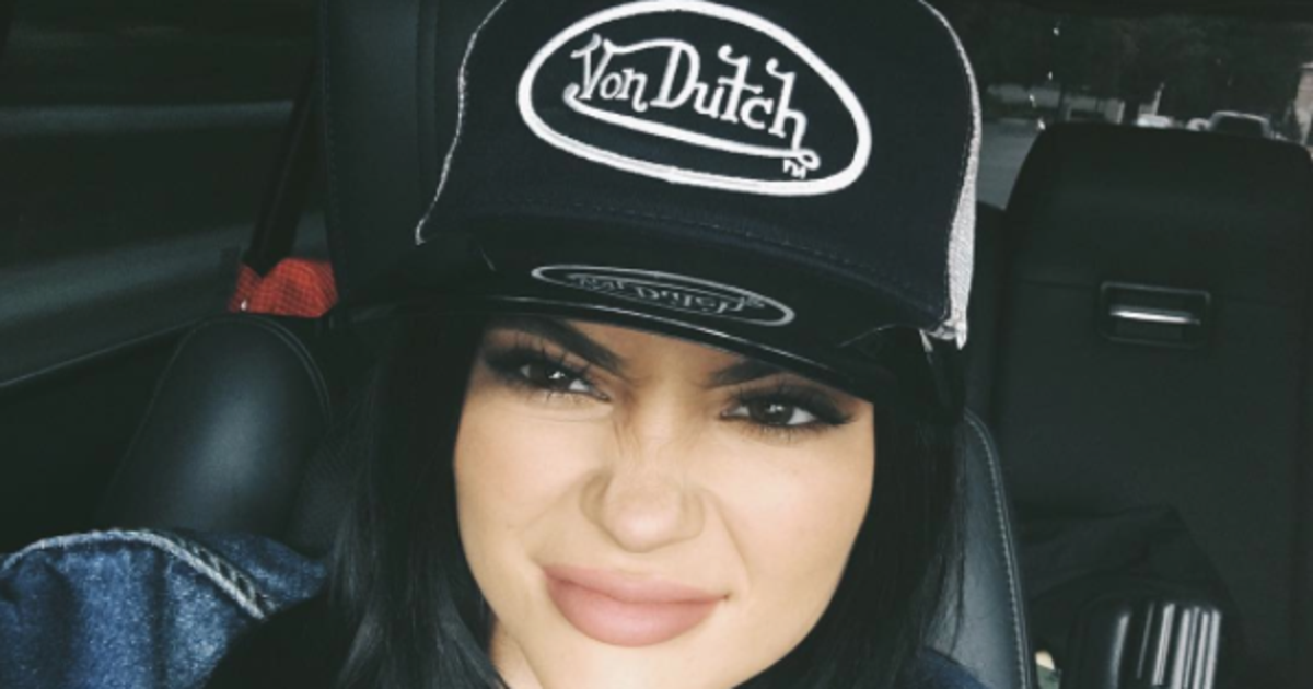Kylie Jenner Models Early 2000s Von Dutch Trucker Hat
