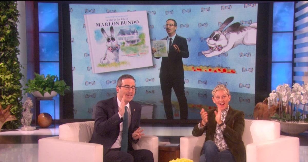 John Oliver Talks Inspiration Behind Mike Pence-Trolling Book on 'Ellen'