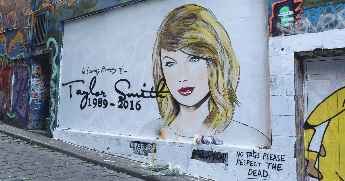 'RIP Taylor Swift' Mural Changed to Harambe the Gorilla Then Kanye West