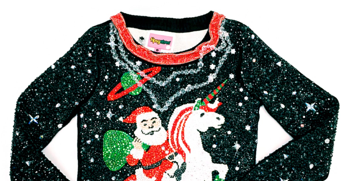 Tipsy Elves Swarovski Ugly Christmas Sweater Zoom Emmys Predictions Win