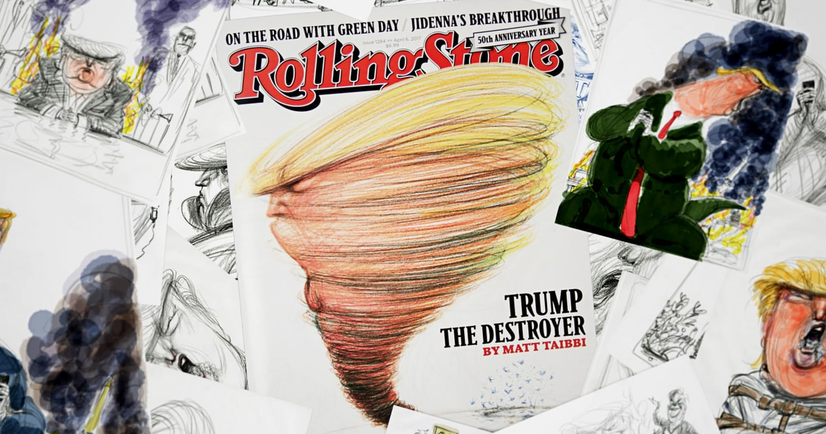 watch illustrator victor juhasz draw president donald trump