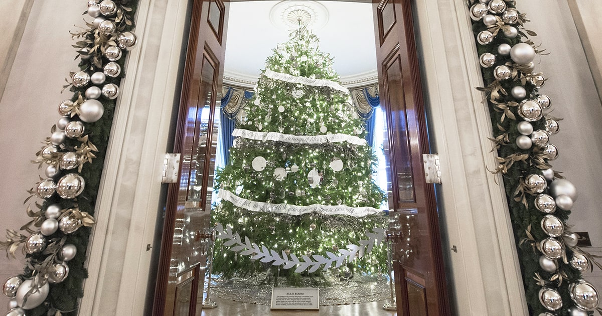 See the white house 39 s 2016 christmas decorations us weekly White house christmas 2017 hgtv