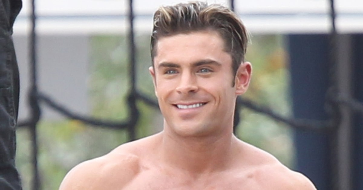 Shirtless Zac Efron Looks Super Buff Filming Scene