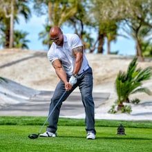 The Rock Smashes a Drive Nearly 500 Yards