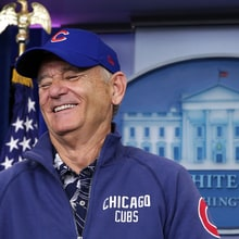 Watch Bill Murray Crash White House Briefing Room to Talk Cubs