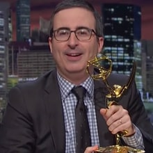 Watch John Oliver Taunt Donald Trump With Emmy Award