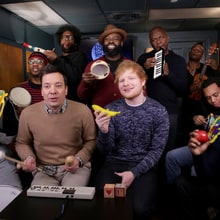 Watch Ed Sheeran Perform 'Shape of You' With Toy Instruments on 'Fallon'