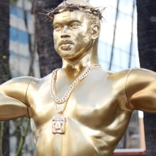 Why Did a Giant Kanye West Oscar Statue Appear in L.A.?