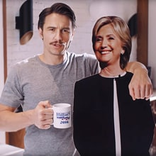 Watch James Franco's Endearing Hillary Clinton Ad