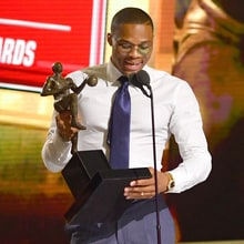 Watch Russell Westbrook's Emotional NBA MVP Acceptance Speech