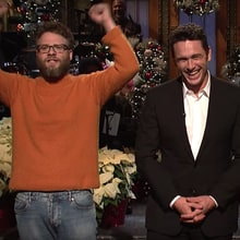 'SNL': Watch Seth Rogen, Jonah Hill Crash James Franco's Monologue