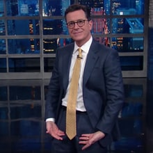 Watch Stephen Colbert's Derisive Recap of Trump's Inauguration
