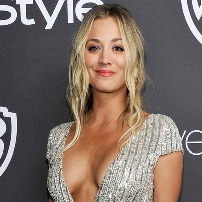 Kaley Cuoco Jokes About Her 'Globes' in Cleavage-Baring Dress
