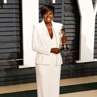 Oscars 2017: Viola Davis Stunned in White Tux at 'Vanity Fair' Afterparty