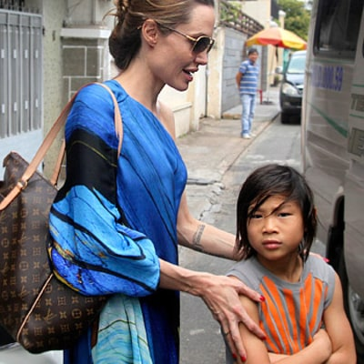 Angelina Jolie, Pax Return to Vietnam Four Years After Adoption