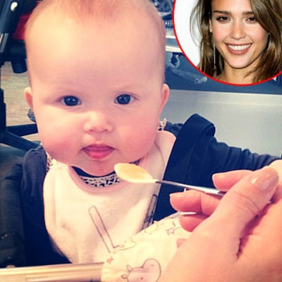 PIC: Jessica Alba's Daughter Haven Not Sure About Solid Food!