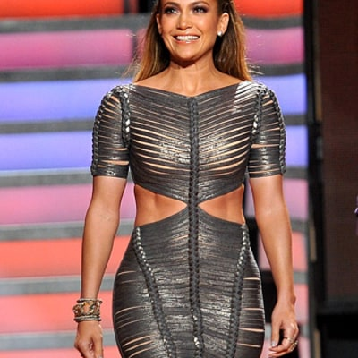 Jennifer Lopez Flashes Rock Hard Abs in Sexy Bandage Dress