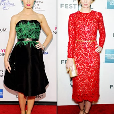 Emily Blunt Steps Out in Two Bold Dresses: Which Is Better?