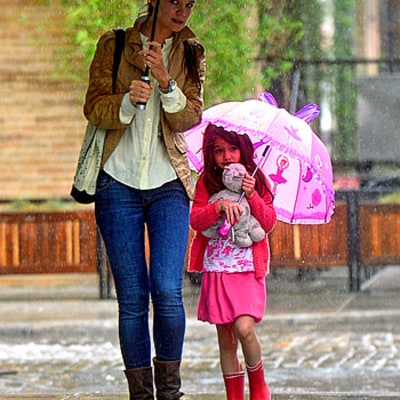 Suri Steps Out With Katie Holmes in NYC Following Tom Cruise Visit