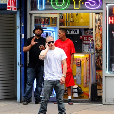 Casper Smart Hits NYC Peep Show One Day Before Jennifer Lopez's Birthday