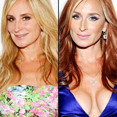 PIC: Sonja Morgan Dyes Her Hair Red!