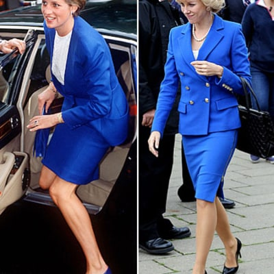 PIC: Naomi Watts Looks Identical to Princess Diana in Blue Suit