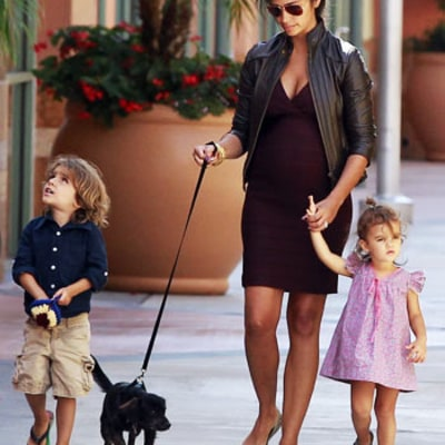 PIC: Pregnant Camila Alves Flaunts Baby Bump in Tight Dress, Walks New Family Puppy
