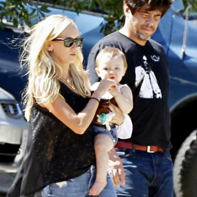 Benicio del Toro, Kimberly Stewart Hang With Daughter Delilah, 12 Months