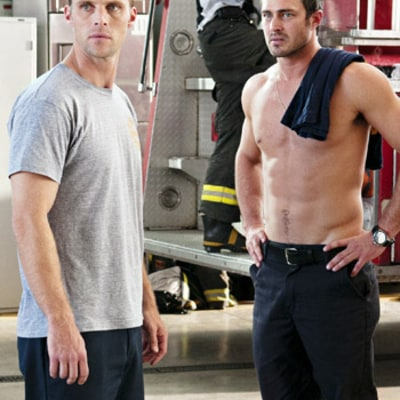 Shirtless Taylor Kinney Fights With Jesse Spencer on Chicago Fire