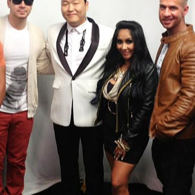 LOL! See Psy Teach the Jersey Shore Cast to