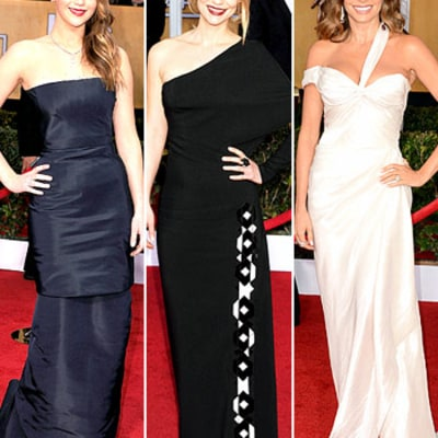 SAG Awards 2013: Anne Hathaway, Jennifer Lawrence, Sofia Vergara Work the Red Carpet