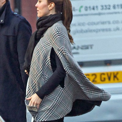 Kate Middleton Resurfaces, Covers Up Baby Bump: Pictures