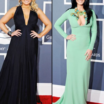 Miranda Lambert and Katy Perry Flaunt Cleavage at Grammys 2013