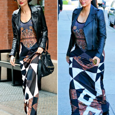 Lily Aldridge Copies Pregnant Kim Kardashian's Head-to-Toe Look!