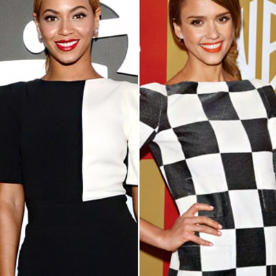 Beyonce, Jessica Alba's Trendy Black and White Styles: Get the Look