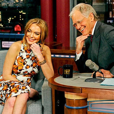 Lindsay Lohan Gets Teary, Tells David Letterman I'm