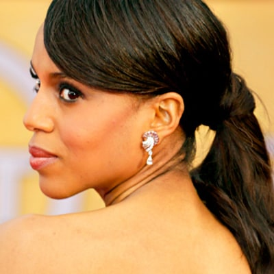 Kerry Washington's Pretty Ponytail: Copy Her Look!