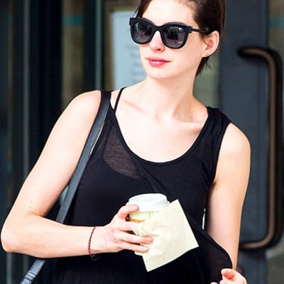 Anne Hathaway Goes Back to Brunette