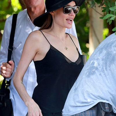 Angelina Jolie Wears Low-Cut Camisole Months After Mastectomy: Picture