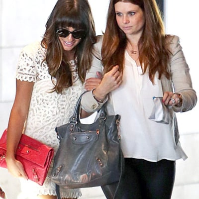 Lea Michele Attends Jamie-Lynn Sigler's Baby Shower With JoAnna Garcia