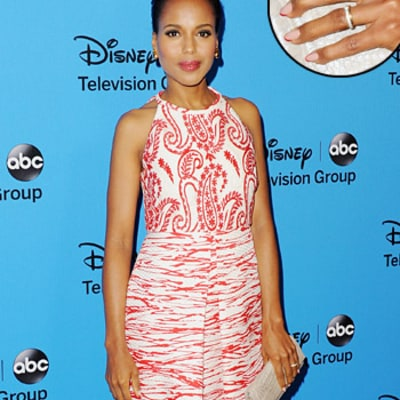 Kerry Washington Flashes Wedding Ring, Costars React to Her Marriage