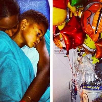 Tameka Foster Shares Picture of Son Usher V in the Hospital