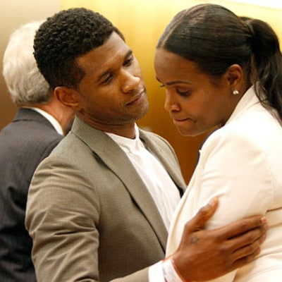 Usher Gives Ex-Wife Tameka Foster a Hug Following Court Ruling: Picture