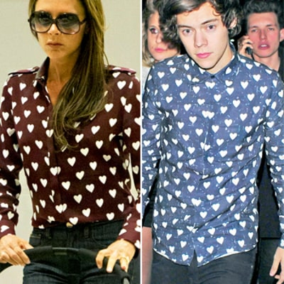 Victoria Beckham and Harry Styles Wear Same Burberry Heart Shirt: Who Wore It Best?