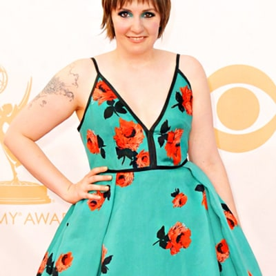 Lena Dunham's Sister Grace Compares the Actress' Emmys Prada Dress to a Delia's Catalogue Look