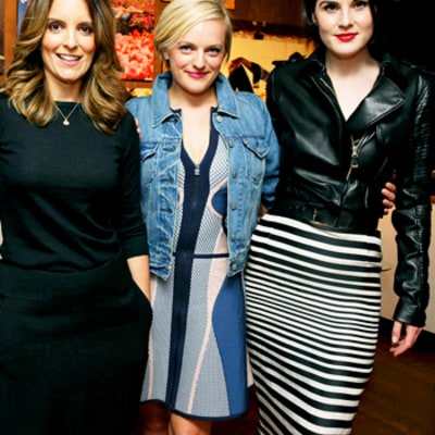 Connie Britton, Tina Fey, Elisabeth Moss, Michelle Dockery Do Dinner